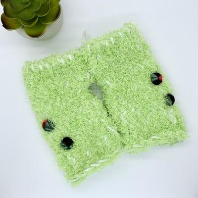 Plush Hand Warmer, Green