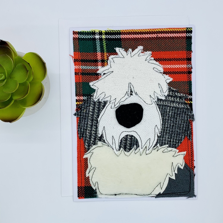 Sheep Dog Greeting Card