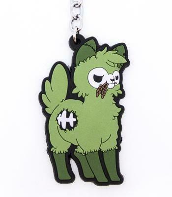 Zombie Alpaca Vinyl Keychain