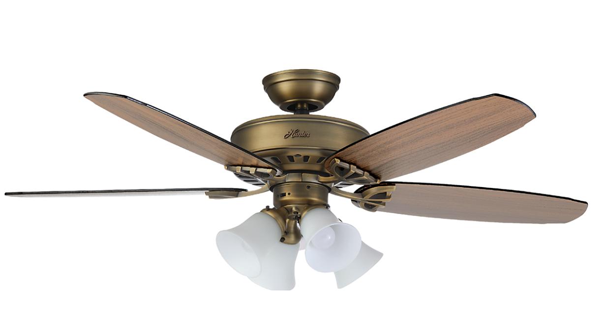 """Hunter 52"""" Ceiling Fan and Light Kit"""