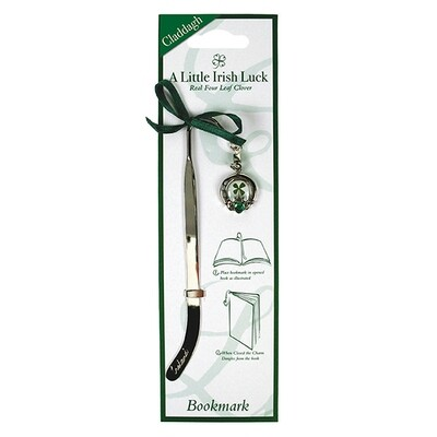 Clover Bookmarker Claddagh