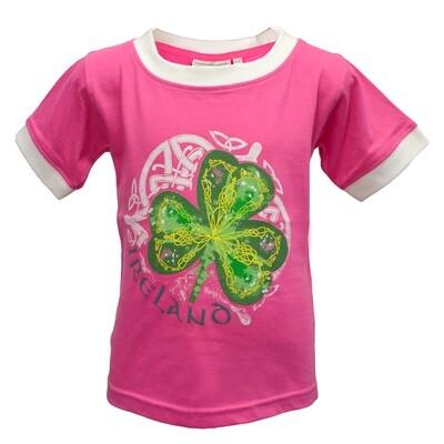 Pink Shamrock Kids T-Shirt