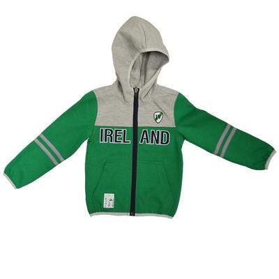 Lansdowne Emerald/grey Kids Zip Hoodie