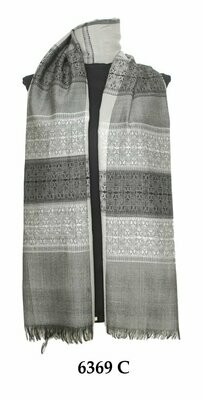 Amtal Grey Winter Pashmina Scarf