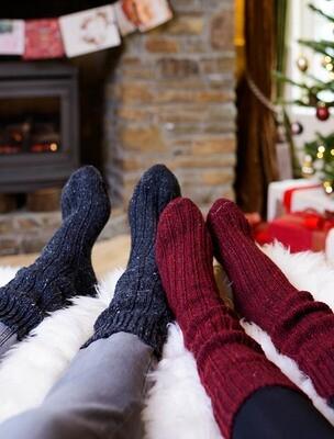 Aran Wool Socks