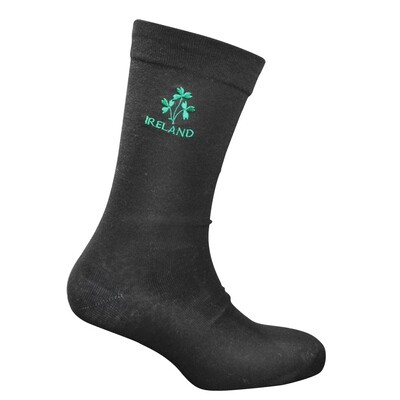 Sock-Black with Shamrock