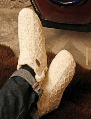 Aran Cable Adult Booties