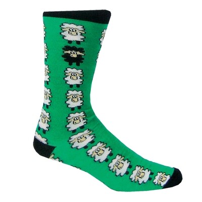 Sock-Emerald Black Multi Sheep