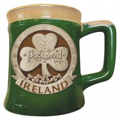 Pottery Shamrock Mug