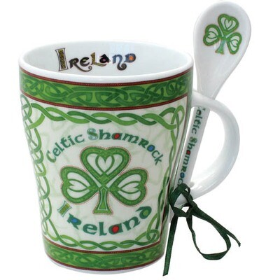 Mug & Spoon-Shamrock