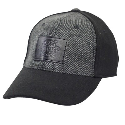 Black Tweed Suede Cap