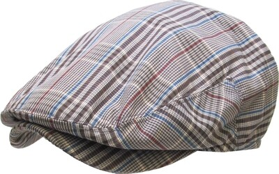 Gatsby Plaid Golf Flat Cap