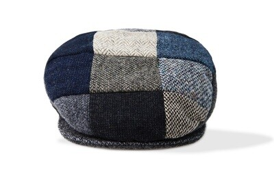 Grey Wool Patchwork Cap