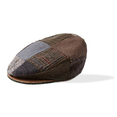 Brown Patchwork Wool Cap