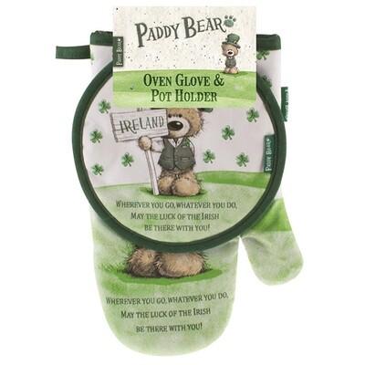 Glove-Pot Holder Paddy Bear