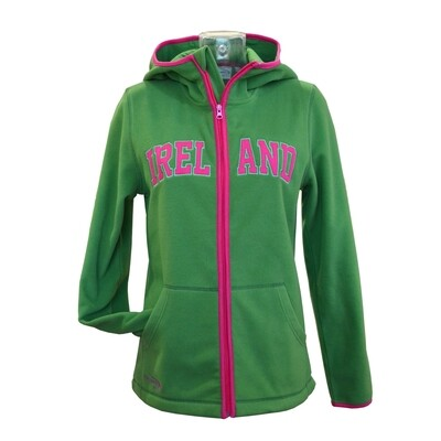 Sage/Pink Ireland Zip Hooded Fleece