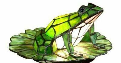 Tiffany Lily Pad Frog