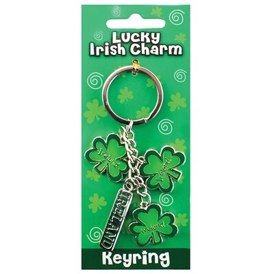 3 Shamrock Key Ring