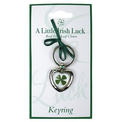 Clover Key Ring Heart
