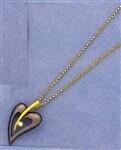 Jeweled Heart on Chain