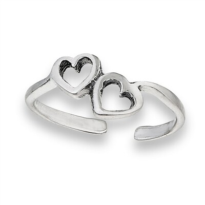 SS Toe Ring Hearts