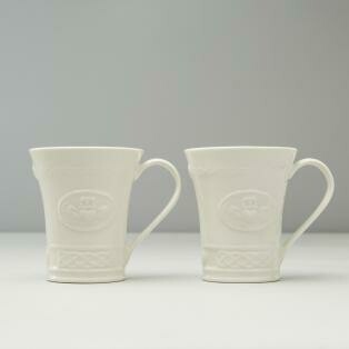 Belleek Mug Set - Claddagh