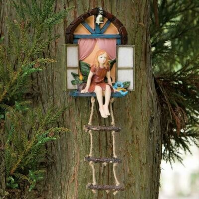 Fairy in Window w/ Hanging Ladder