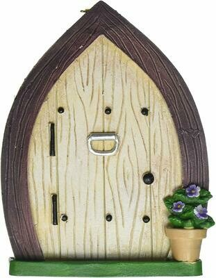 Fairy Door w/Flower Pot