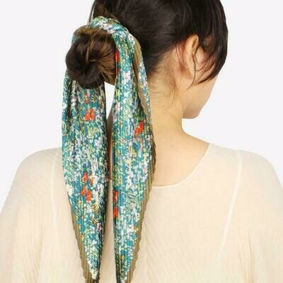 Silk Floral Scarf  *Color Options*
