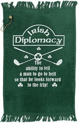 Irish Diplomacy Golf Towel