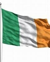 Ireland Flag on Pole