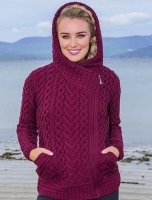 Aran Celtic Hoodie Side Zip
