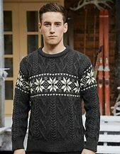 Aran Snowflake Sweater