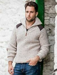 Aran Sweater W/ Patches