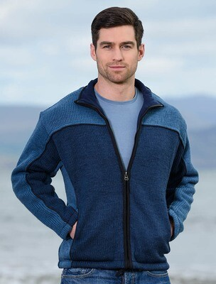 Aran Fleeced Lined Wool Jacket