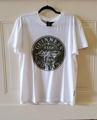 Guinness White Bottle Cap T-Shirt