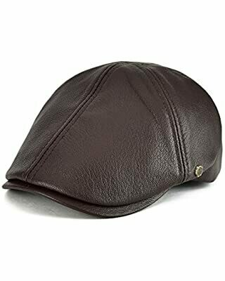 Leather Ivy Cap - Brown