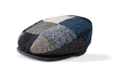 Grey Wool Patchwork Cap