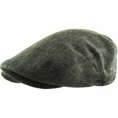 Newsboy Herringbone Flat Cap