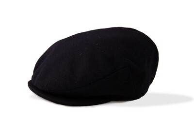 Black Wool Irish Cap
