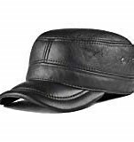 Lambskin Leather Military Cadet Hat
