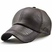 Leather Baseball Cap - Brown