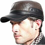 Leather Fur Trapper Hat