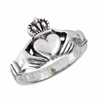.925SS Claddagh Celtic Ring