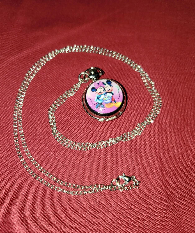 Mickey & Minnie Pocket Watch