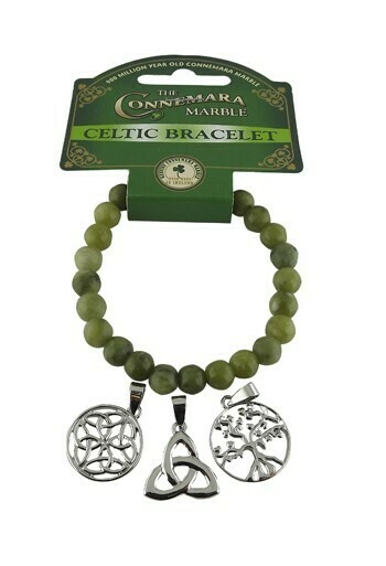 Celtic Triple Charm Bracelet