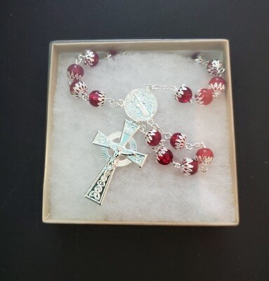 Capped Red Rosary