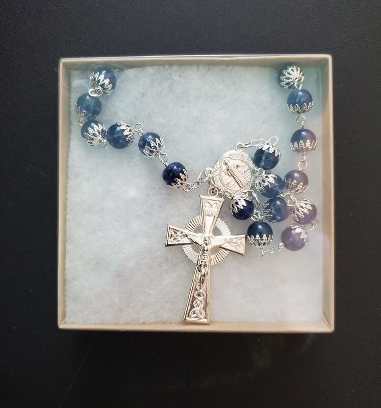 Capped Blue Rosary