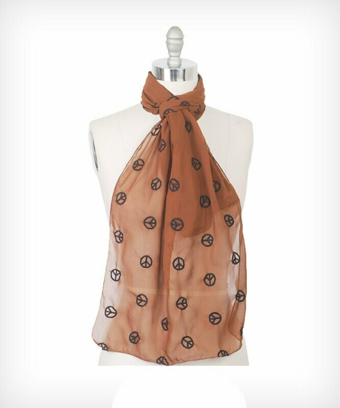 Peace Sign Scarf