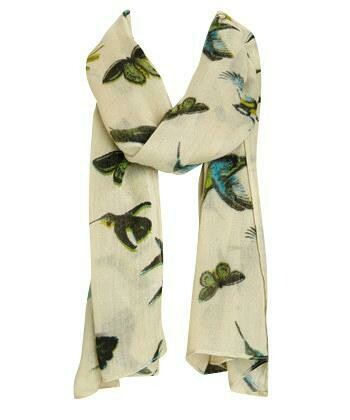 Bird and Butterfly Scarf